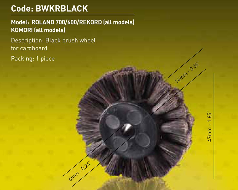 Brush Wheel - Black Dia.47mm