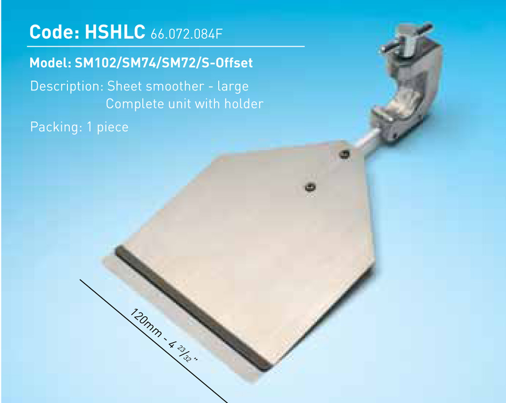 Sheet Smoother Large Complete Unit W/Holder