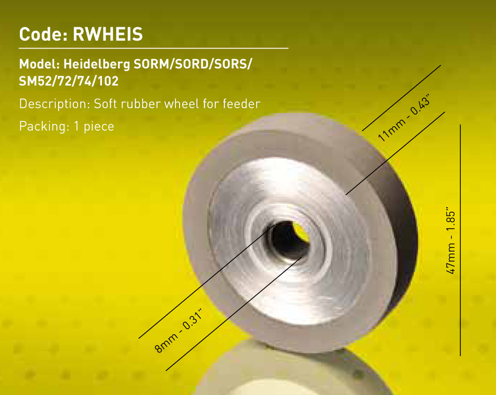 Heid. Rubber Wheel - Soft Dia. 47mm