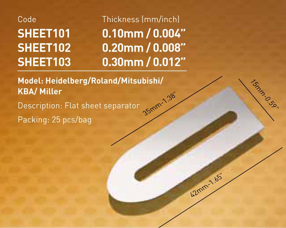 Flat Sheet Separator Heidelberg /Roland/Mitsubishi/KBA/Miller