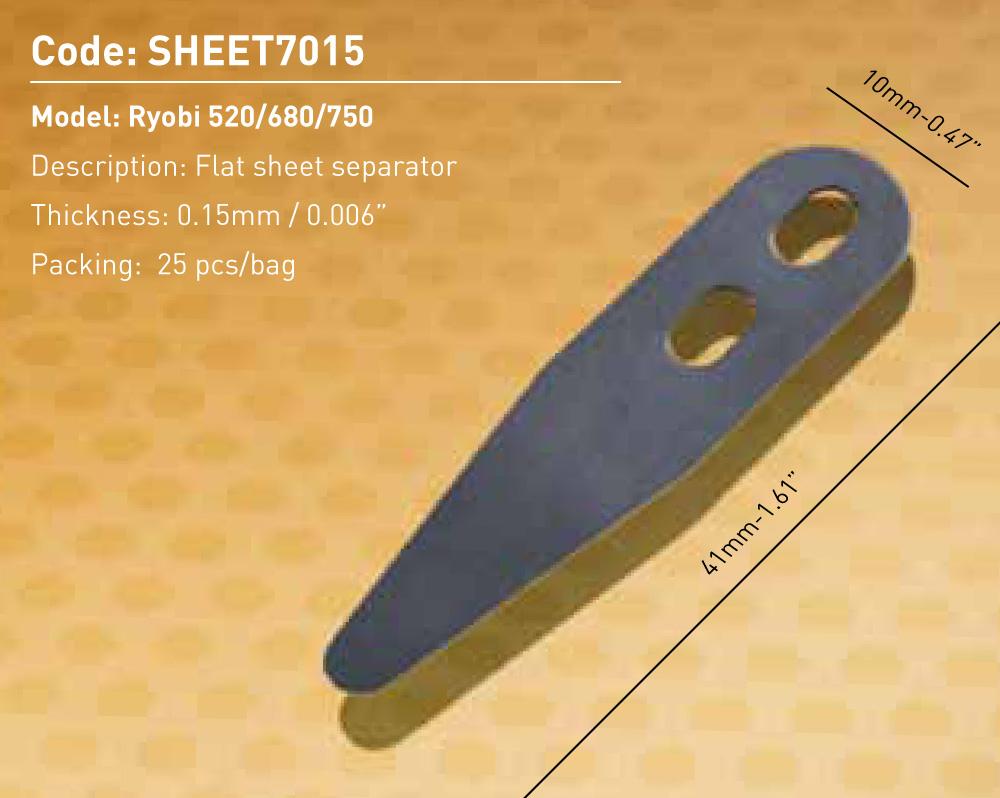 Flat Sheet Separator Ryobi 520/680/750
