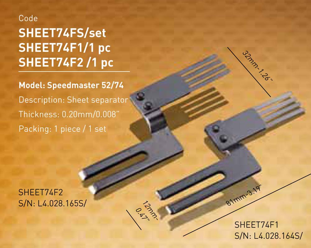 Speedmaster 52/74 - Fork