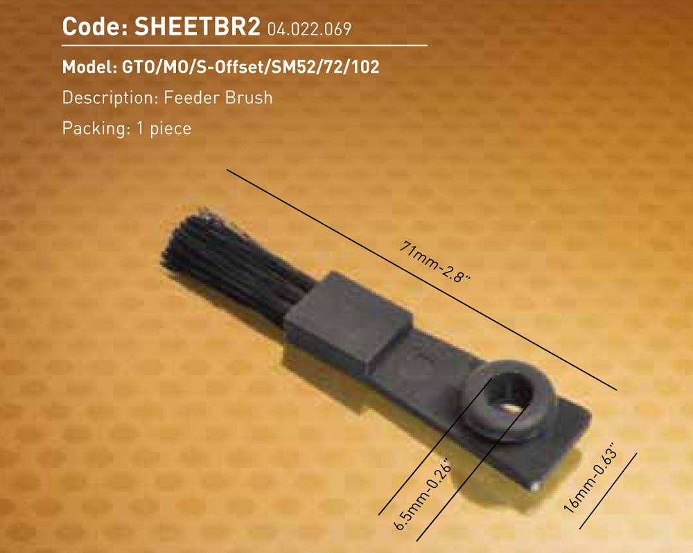 Feeder Brush GTO/MO/S-Offset/SM52/72/102