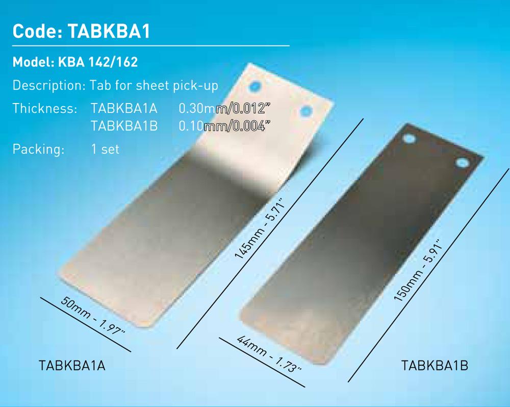 Tab For Sheet Pick-Up KBA 142/162