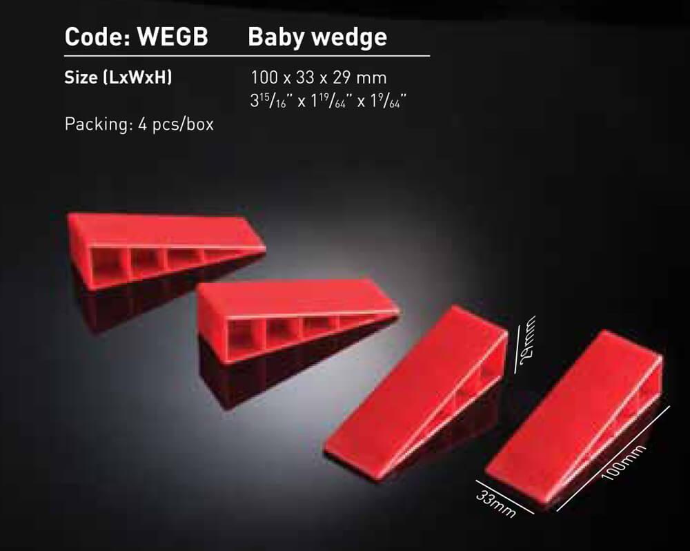Plastic Wedges - Baby