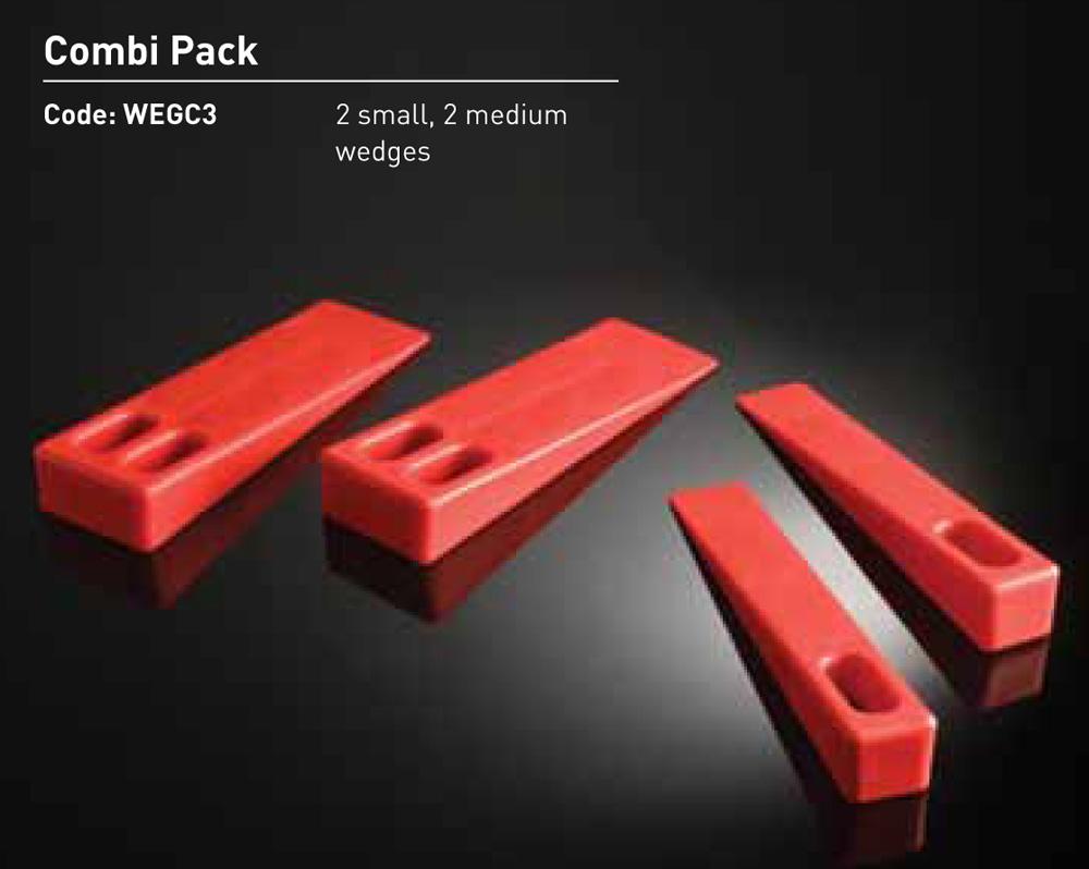 Plastic Wedges - 2 Small, 2 Medium